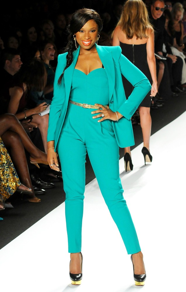 Jennifer-Hudson-Green-Michael-Kors-Jumpsuit
