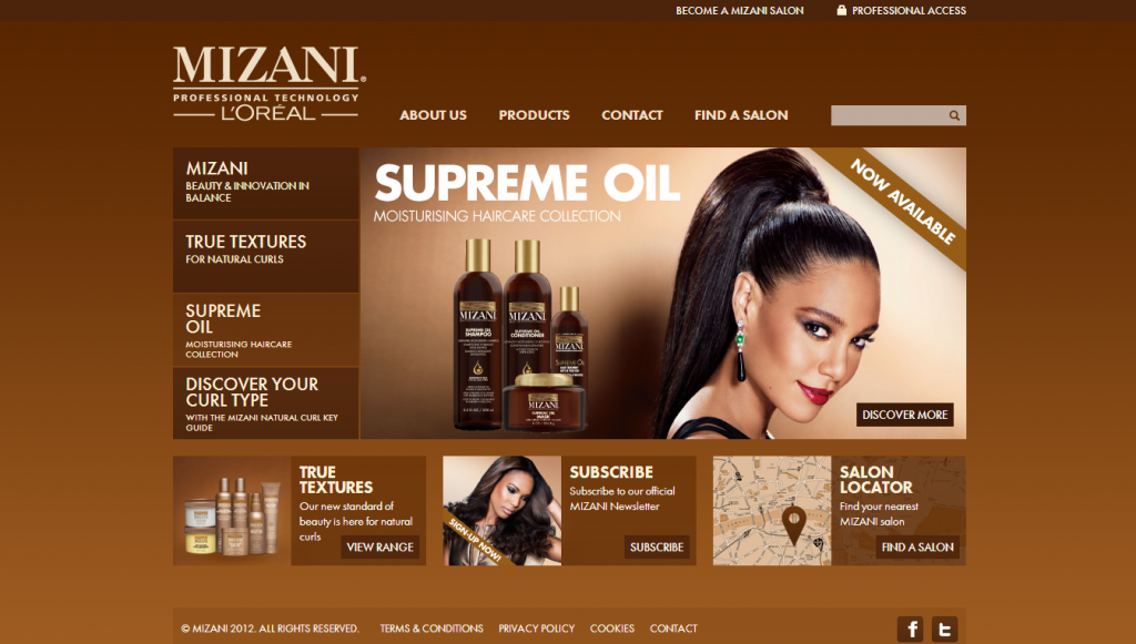 mizani uk website