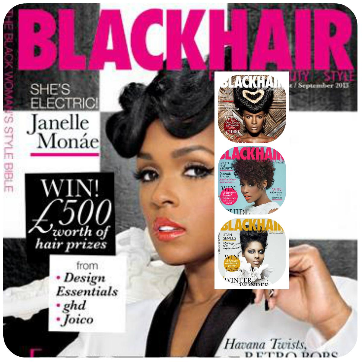 black hair collage