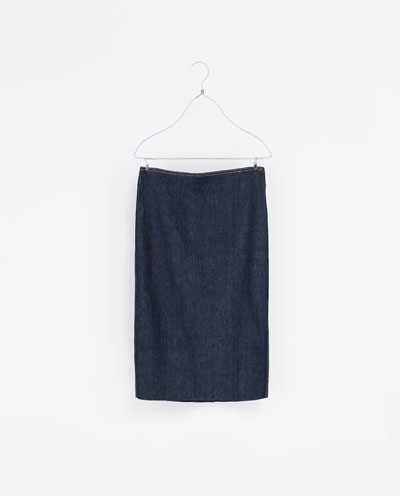 ZARA Demin Pencil Skirt  £29.99