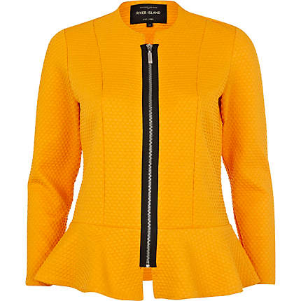 River IslansTextured Jersey Peplum Jacket