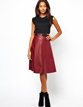 River Island @ ASOS Coated Full Midi Skirt £30