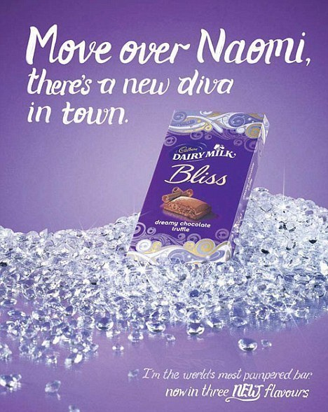 The controversial Cadbury's advert that was withdrawn last year by the company describes Naomi as a 'diva'