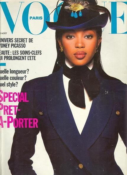 Naomi Campbell's ground breaking 1988 cover for French Vogue