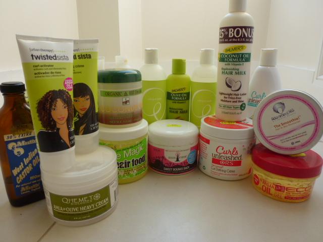 Georgina's product pile!