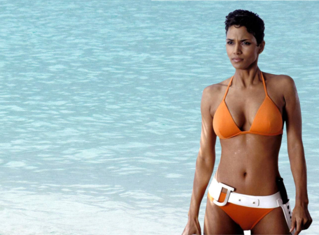 To die for! Halle Berry works her bikini in the 2002 Bond movie 'Die Another Day'.